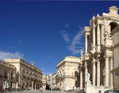 Italy Sicily Siracusa Piazza Del Duomo Sic