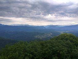 Russia, Sochi, Mountains, Akhun, Nature