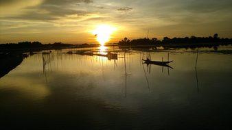 Bangladesh Sunset Twilight Dusk Dawn Swamp