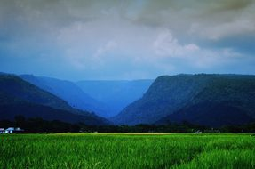 Landscape Sylhet Nature Hills Green Cloud
