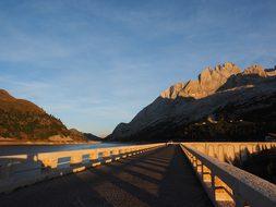 Fedaia Lake, Road, Dam System