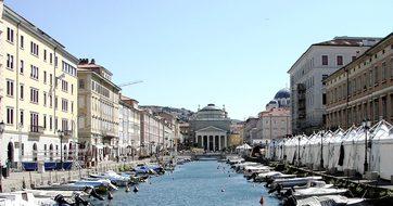 Trieste Italy Friuli Capital Canale Grande