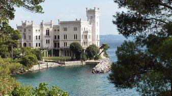 Castello Di Miramare Castle Adriatic Itali