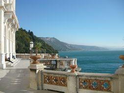Trieste Italy Castle Mountain Lake Trieste
