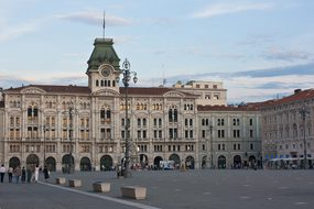 Trieste Italy Piazza Buildings Town Hall T