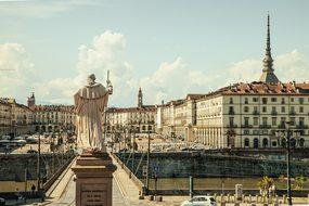 Piazza Vittorio Torino Italy Plaza Priest