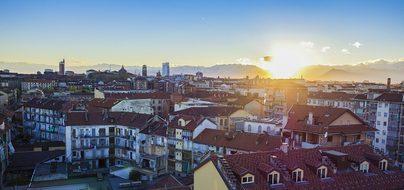 Turin View Sunset Abendstimmung Sky Italy