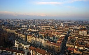 Italy Turin Architecture Aerial View Turin