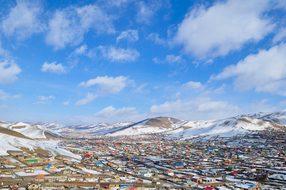 Suburb Mongolia Ulaanbaatar Blue Grassroot