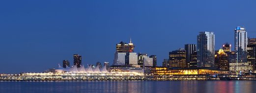 Vancouver Skyline Canada Place Downtown Ar