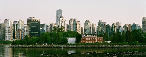 Vancouver Panorama Cityscape Skyline Water