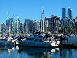 Vancouver Skyline False Creek Canada Briti