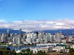 Vancouver Canada Skyline Sky Clouds Skyscr