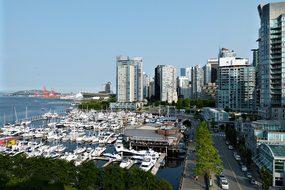 Vancouver Coal Harbor City Buildings Boats