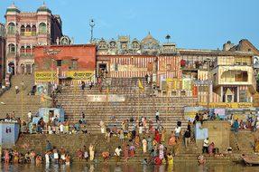 India, Varanasi, Ghat, Ganges, Tourism