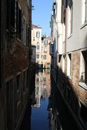 Venice, Channel, Gondola, Reflection