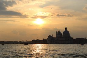 Venice, Skyline, Sunset, Water, Sea