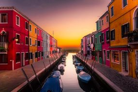 Venice Italy Burano Island Buildings Color