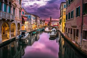 Canal Venice Italy Water River Buildings B
