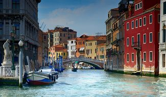 Italy Venice Water Gondola Architecture Ve