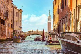 Carabinieri Police Venice Bridge Bell Towe