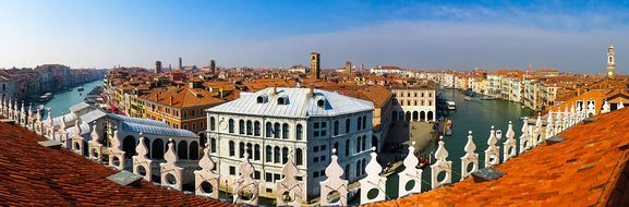 Architecture Building Venice City Panorama