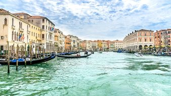Travel Holiday Venice Gondolas Canal Grand