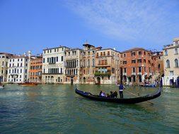 Gondola, Venice, Canal Grande, Italy