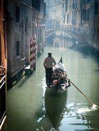 Gondola Venice Italy Canal Romantic Italia
