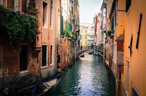 Venice Italy Gondolas Channel Venice Venic