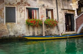 Venice, Boat, Colors, House, Home, Door