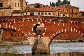 Stone Bridge Verona Adige River Monument A