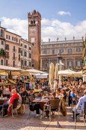Verona Market Italy Human Market Stall Foo