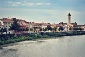 Verona Italy River Europe Italian Architec