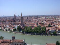 Verona Italy Italian Europe Town View City