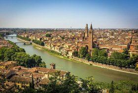 Verona City River Church Bridge Water Ston