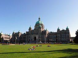 Parliament Building Victoria City Capital