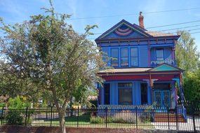 Home, Blue, Victorian, Canada, Victoria