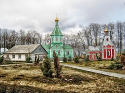 Voronezh Russia Monastery Buildings Church