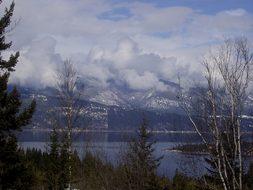 Emerald Lake Whistler Mountains Clouds Bri