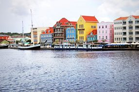Antilles Curacao Willemstad Landscape Hous