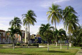Park, Lawn, Statue, Recreation