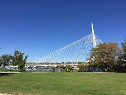 Esplanade Riel Bridge Winnipeg Canada Winn