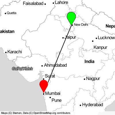 Lacné letenky Gurugram (DEL) - Mumbai 2021